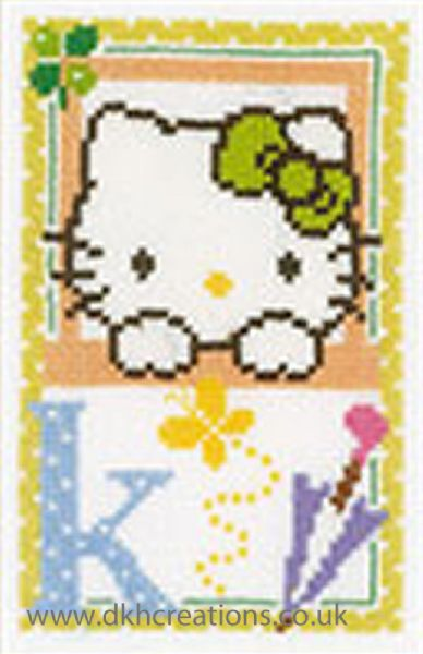 Hello Kitty Alphabet Letter K Cross Stitch Kit